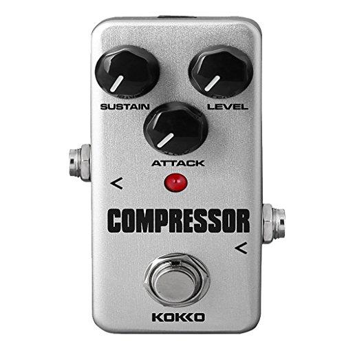 HomeDecTime Hochwertiger Gitarren Effektpedal Kompressor True Bypass Für E Gitarren