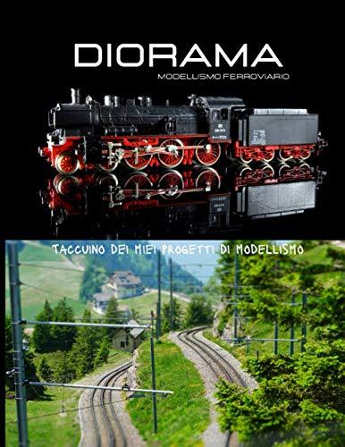 Diorama modellismo ferroviario: Taccuino dei miei progetti di modellismo, schizzo di scena, budget, lista di controllo degli oggetti di scena, riferimenti di vernice.