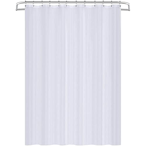 Utopia Home Fabric Shower Curtain Liner Mildew Resistant White 72 By Inches