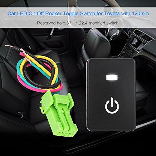 Interruttore a bilanciere, Auto LED On Off Interruttore a levetta per Camery Yaris Highlander Prius Carora(ACCENSIONE)