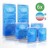 Lacari  [6x] Kalt & Warm Kompresse aus Gel - Optimal Geeignet für die Mikrowelle & den...