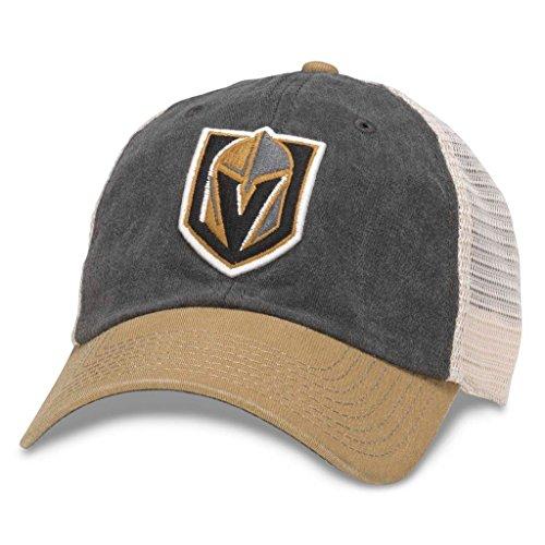 American Needle Hanover NHL Team Mesh Hat, Las Vegas Knights, Ivory/Black/Gold (43352A-VGK)