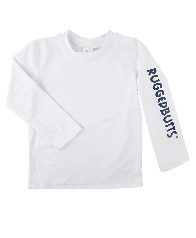 RuggedButts Baby/Toddler Boys Long Sleeve Rash Guard Swim Shirt w/UPF 50+