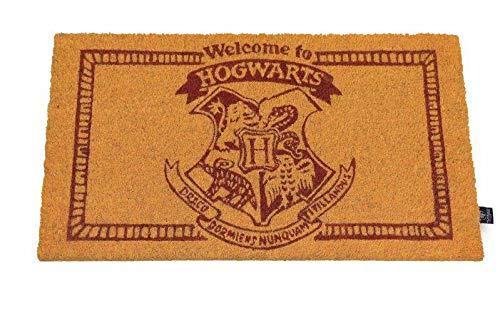 Harry Potter Zerbino Welcome To Hogwarts Doormat Ufficiale Merchandising Riferimento DD Tessili per la casa Unisex Adulto, Multicolore (Multicolore), Unico
