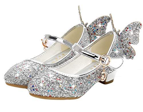 YOGLY Mädchen Schuhe Kinder MäDchen Baby Bling Prinzessin Schuh Pailletten Sandalen für Abschlussballparty Geburtstagsgeschenk 26-38