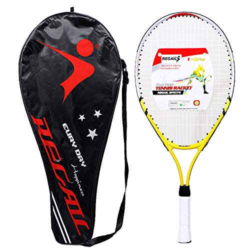 Raqueta de Tenis para niños, Starter Toddlers Tenis Ligero, a Prueba de Golpes y a Prueba de Golpes, Duradero con Funda de Raquetas de Tenis, para niños Niños Niños Niñas