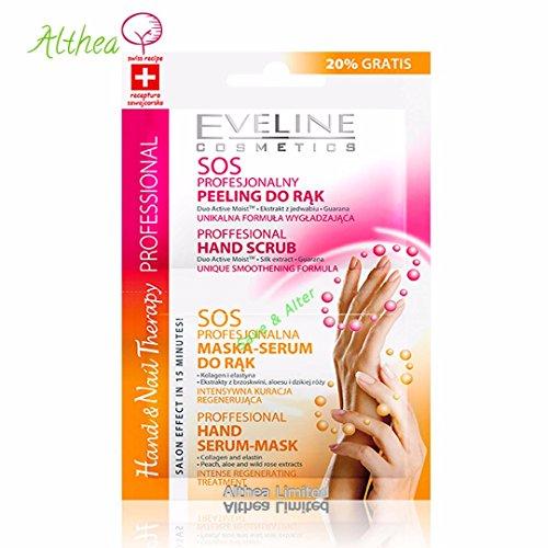 Terapia manuale SOS, terapia mani e unghie, maschera e scrub per le mani, EVELINE