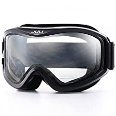 PROFESSIONAL VENTILATION- Designed to reduce fogging and optimizes the flowing air over the inside of the lens. ski goggles provide smooth air-flow system which brings fresh air and exhaust moisture quickly and effectively. HELMET COMPATIBLE ADJUSTAB...