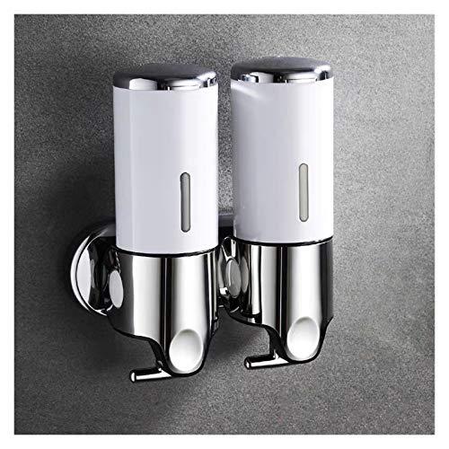 Cuarto de baño Espuma Soap dispensador Mano Soporte desinfectante Montaje de Pared Jabón Jabón Champú Cabeza Ducha Dispensador de líquido para Accesorios de baño (Color : 2 White)