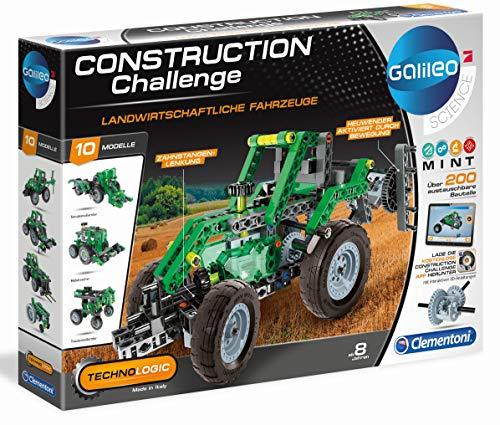 Clementoni 59010.0 - Galileo Construction Challenge - Landwirtschaftliche Fahrzeuge, bunt
