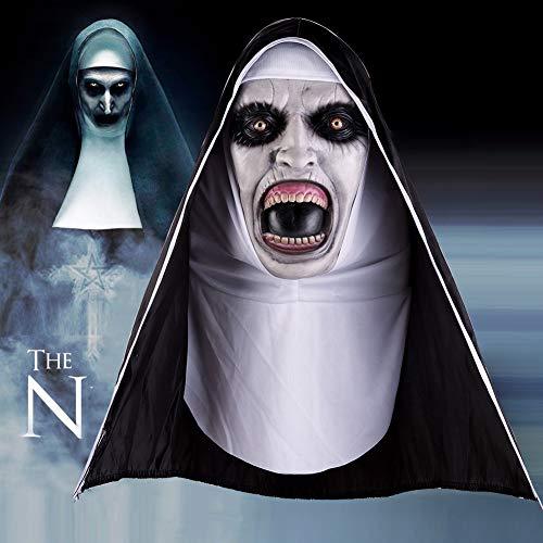 EFINNY Máscara de Monja de látex Horror de Halloween Cara