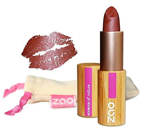 ZAO Pearly Lipstick 404 rot-braun schimmernder Lippenstift mit Perlglanz, in nachfüllbarer...