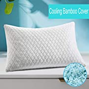 Shredded Memory Foam Pillow, Adjustable Pillow for Sleeping, Hypoallergenic Cooling Bed Pillow with Zipper Washable Removable Bamboo Cover for Back, Stomach, Side Sleepers(King)