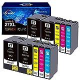 10 Uniwork 27XL Cartucce d'inchiostro Sostituzione per Epson 27XL Compatibile con Epson Workforce WF-7210DTW WF-7710DWF WF-7720DTWF WF-3620DWF WF-3640DTWF WF-7110DTW WF-7610DWF WF-7620DTWF WF-7715DWF
