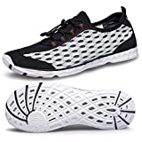 Alibress Stylish Water Shoes Mens Quick Drying Aerobics Swimming Water Sneakers for Men Fashion Kayaking Athletic Aqua Water Socks Black 10 M US