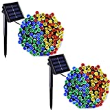Binval Solar String Lights Multicolor for Outdoor,Patio,Lawn,Landscape,Fairy Garden,Home,Wedding,Holiday,Christmas Party and Xmas Tree Decorations[72feet-200LED-Multi-Color] 2-Pack