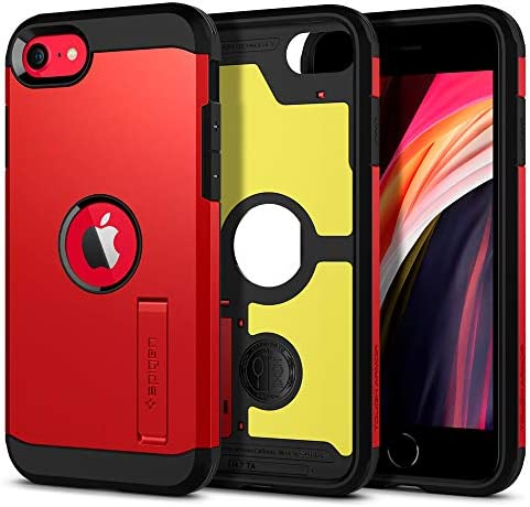 Spigen Tough Armor Designed for iPhone SE 2020 Case Red product image