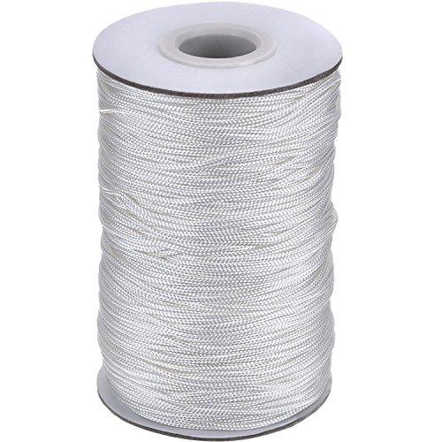109 Yards/ Roll Weiß Geflochtene Lift Shade Schnur für Aluminium Blind Shade, Gartenbau und Handwerk (1,4 mm)