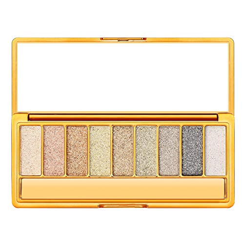 Glitter Eyeshadow Palette, 9 Colors Sparkle Eyeshadow Shimmer Ultra Long Lasting Makeup Eye Shadow Pallet, Gifts for Valentine