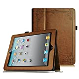 Fintie iPad 2 / 第3世代 iPad / 第4世代 iPad 専用保護ケース 薄型 軽量 スタンドタイプ タッチペンホルダー付き、オートスリープ機能付き、高級PUレザーケース カバー (ビンテージ調ブラウン)