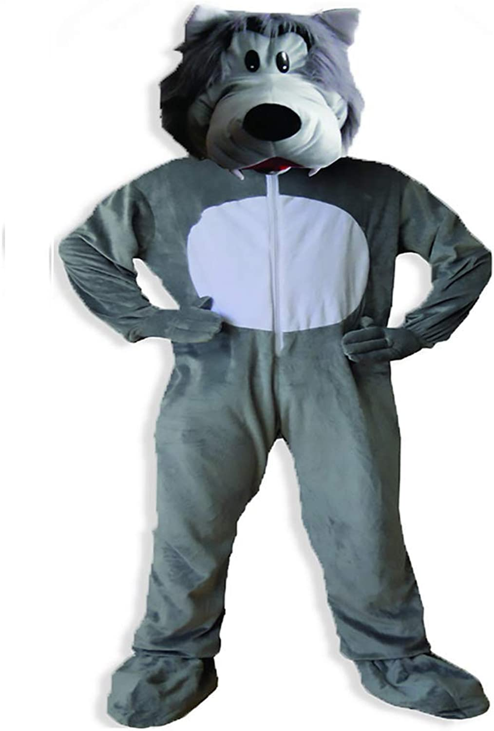 Dress Up America Adults Cute Grey Wolf Costume