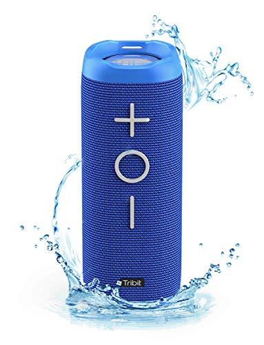 Tribit StormBox bluetoothスピーカー IPX7完全防水 ワイヤレススピーカー 24W 高出力 ポータブルスピーカー 360度スピーカー 20時間連続再生 ブルートゥーススピーカー 重低音/内蔵マイク/アウトドア お風呂 iPhone & Android対応 18ヶ月の保証 ブルー BTS30