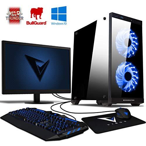 VIBOX Ultra 11S - Ordenador para Gaming (21.5', AMD A8-7600, 16 GB de RAM, 1 TB de Disco Duro, AMD Radeon R7) Color neón Azul - Teclado AZERTY Francés