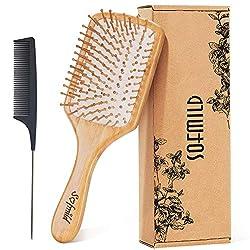 cheap Natural wood hairbrushes, bamboo brushes, ponytail tangling combs, hairbrush sets, environmentally friendly …