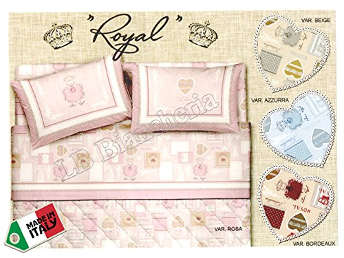 R.P. Dolce Notte sprei voor tweepersoonsbed, tweepersoonsbed Royal Shabby Chic Provenzale – Made in Italy