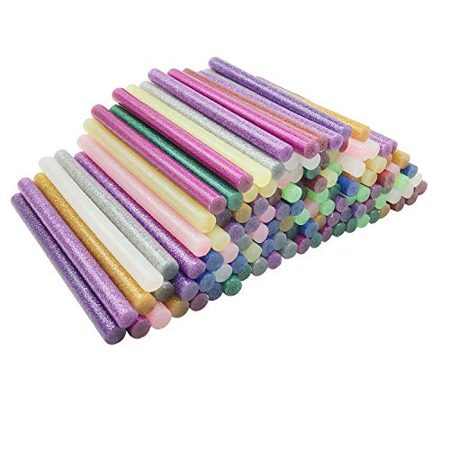 Barras de Pegamento Termofusible, 12 colores Barras de Silicona Caliente Adhesivos Coloreados del Arma del Pegamento para DIY Art Craft (120 piezas)