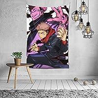 呪術廻戦 タペストリー ポスター かわいい 壁飾り 多機能壁掛け 装飾布 おしゃれ 個性ギフト寝室 新築祝い 結婚祝い プレゼント 壁掛け 約(152cm*102cm)