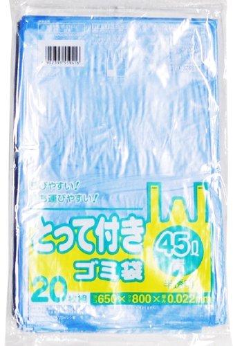 日本サニパック Y41T とって付き45L 青 4902393559416 1セット(600枚:20枚×30)