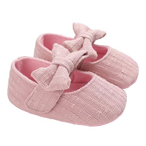 Geagodelia Scarpe da Neonato Scarpe da Principessa per Bambina Scarpine con fiocco