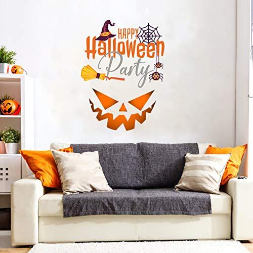 JNNUMY pegatinas de pared de Halloween autoadhesivas de Halloween cara sonriente decoración de la pared de la sala de estar pegatinas de pared de PVC