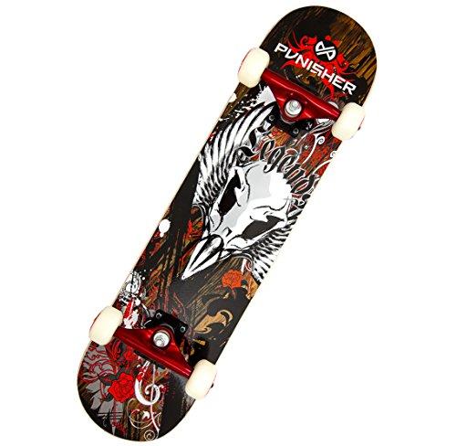 Punisher Skateboards Legends Complete 31-Inch Skateboard with Canadian Maple