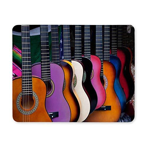 Verschiedene mehrfarbige mexikanische Gitarren Rechteck Rutschfeste Gummi-Mousepad-Matte