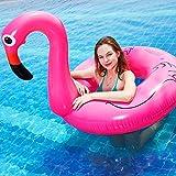 Gcxzb Fila Flotante Inflable Airbeds Adulto Flamenco natación Anillo Popular Rosa Rosado natación Drenaje Flotante en la Piscina de Montaje Flotante Gigante