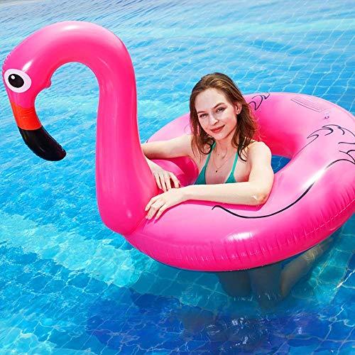 Airbeds Adulto Flamenco natación Anillo Popular Rosa Rosado natación Drenaje Flotante en la Piscina de Montaje Flotante Gigante