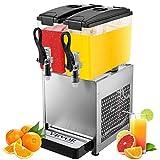 VEVOR Distributore di Bevande 24L Distributore di Bevande con Rubinetto Dispenser di Succo Freddo e Caldo con 2 Serbatoi 2 * 12L
