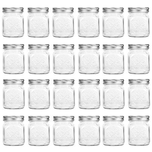 4 oz Mini Canning Jars Glass Jars with Lids