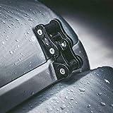 MAIKER Black Aluminum Latch Locking Hood...