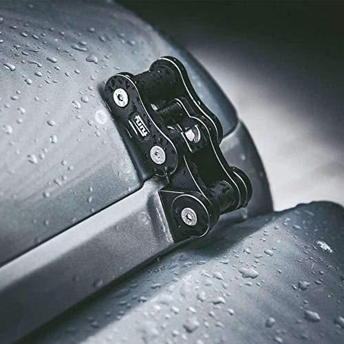 MAIKER Black Aluminum Latch Locking Hood Catch Kit Compatible with...