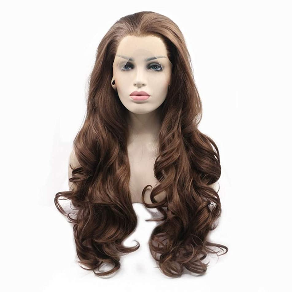 Greenmirr Linen Long Wave Lace Front Wigs with Heat Resistance Synthetic Hair 22in