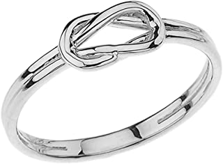 Modern Sterling Silver Hercules Love Knot Promise Ring