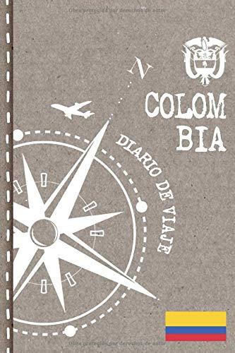 Colombia Diario de Viaje: Libro de Registro de Viajes - Cuaderno de Recuerdos de Actividades en Vacaciones para Escribir, Dibujar - Cuadrícula de Puntos, Bucket List, Dotted Notebook Journal A5