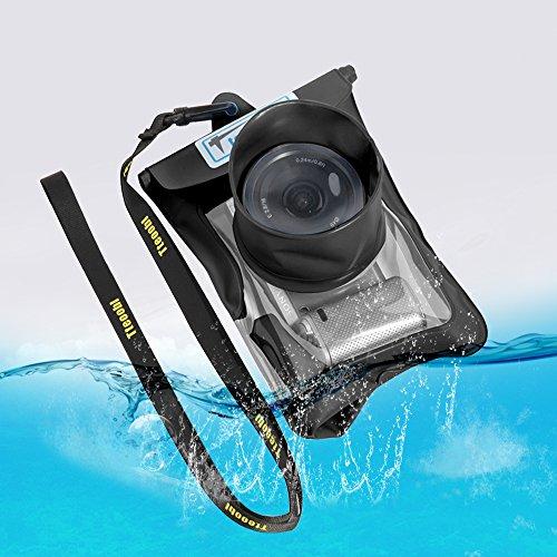デジカメ 防水ケース 防水 デジカメケース カメラ 防水カバー casio/olympus/sony/nikon/yashica/canon/panasonic/fujifilm デジカメ防水ケース レインカバー 黒