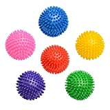 Enjoy Fit Igelball Fitness Massageball Noppenball 9cm 6er Set - bunt