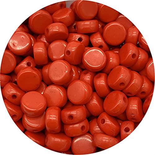 Cuentas sueltas, 500 unids 7 mm Forma óvalada Perlas acrílicas sueltas Espaciador de cuentas para la joyería que hace bricolaje collar de pulsera hecho a mano para hacer joyas DIY ( Color : C )