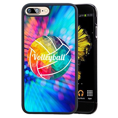 Volleyball Malerei Hülle für iPhone 7 Plus 8 Plus, TPU und PC Individuelles Design Skin Cover, Schwarz Anti-Rutsch-Anti-Scratch Schutzhülle für iPhone 7 Plus 8 Plus, Volleyball Painting