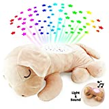 Boley Night Light Puppy Stuffed Animal for Toddlers and Babies - Dog Stuffed Animal with 7 Different Lullabies and Color Schemes - Night Light Projector Built in for Bedroom Stargazing